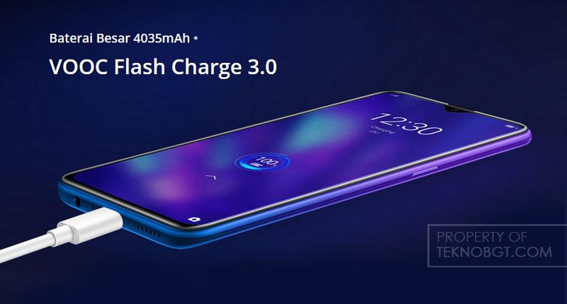 baterai dan vooc flash charge