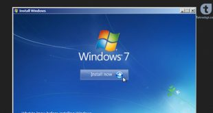 cara instal ulang windows7