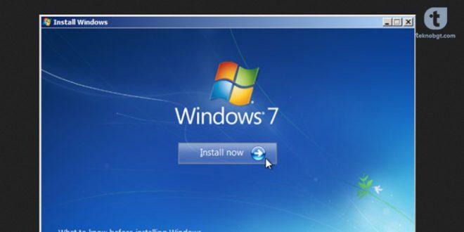 cara instal ulang windows7