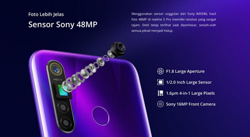 sensor kamera 48MP realme