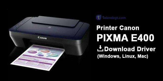 driver printer canon e400