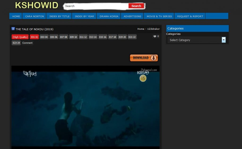 kshowid streaming film korea