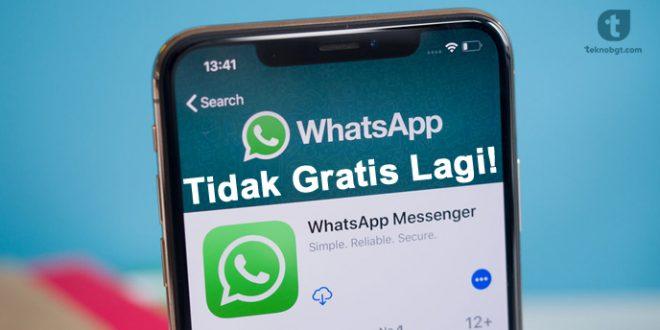 whatsapp tidak gratis lagi