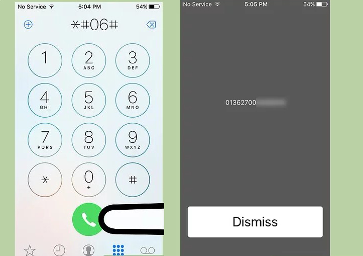 checking imei iphone call