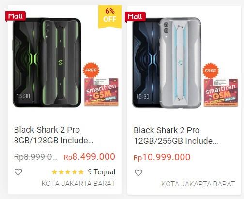 harga terbaru black shark 2 pro
