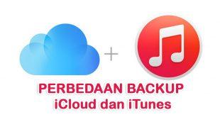 perbedaan backup iCloud dan Komputer