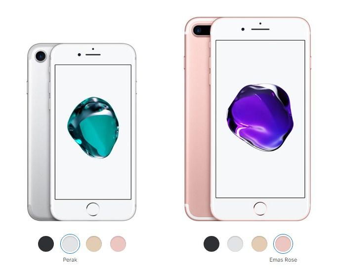 perbedaan spesifikasi iPhone 7 dan 7 plus