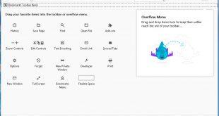 mengatur toolbar mozilla firefox