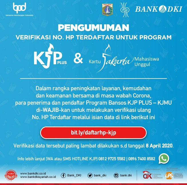 verifikasi no hp kpj plus