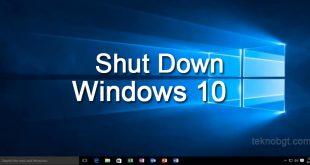 cara mematikan laptop asus windows 10