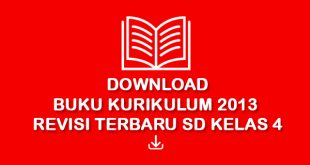 download buku kurikulum 2013 revisi 2017 kelas 4 SD