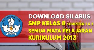 Download silabus smp kelas 8 kurikulum 2013