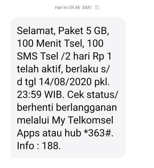 paket 5Gb hanya 1 rupiah