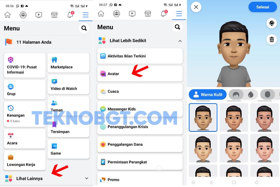 cara membuat avatar facebook di hp