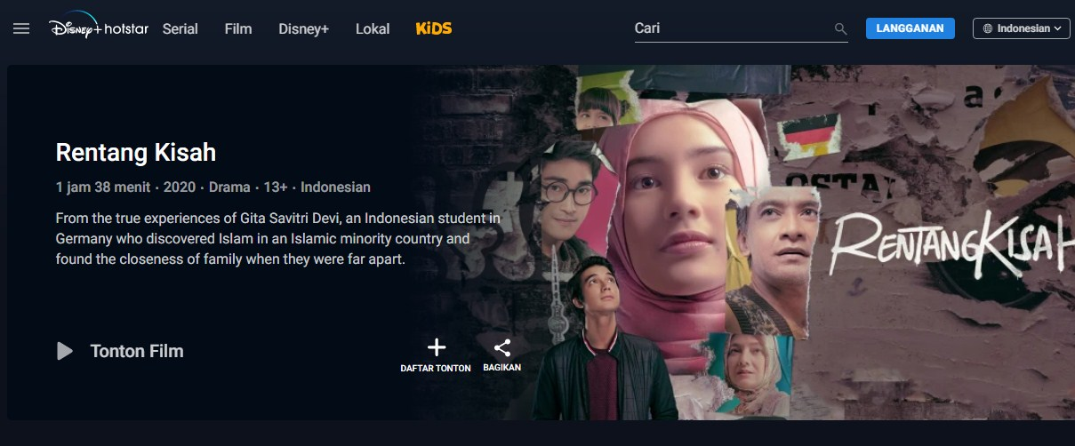 nonton film rentang kisah full movie gratis