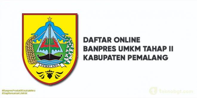 Daftar Online Banpres UMKM Tahap II pemalang