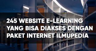 245 website elearning universitas untuk paket ilmupedia