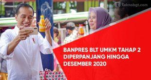 Banpres BLT UMKM Diperpanjang Hingga Desember