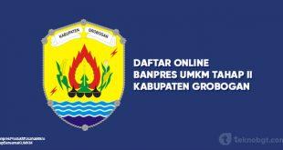 Daftar Online Banpres UMKM Tahap II Grobogan