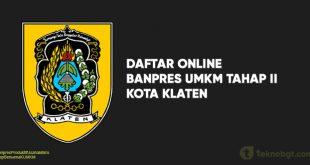 Daftar Online Banpres UMKM Tahap II Klaten
