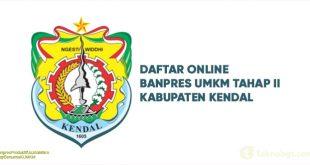 Daftar Online Banpres UMKM Tahap II kabupaten kendal