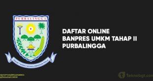 Daftar Online Banpres UMKM Tahap II purbalingga