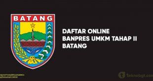 Link Daftar Online Banpres UMKM Tahap II batang