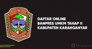 Link Daftar Online Banpres UMKM Tahap II karanganyar