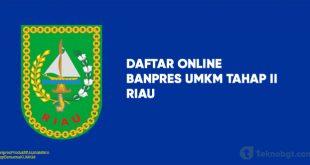 Link Daftar Online Banpres UMKM Tahap II riau