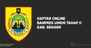 Link Daftar Online Banpres UMKM Tahap II sragen