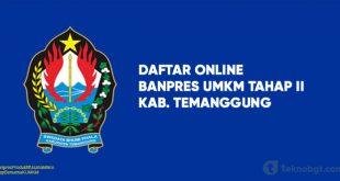 Link Daftar Online Banpres UMKM Tahap II temanggung