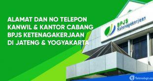 alamat dan nomor telepon bpjs ketenagakerjaan jateng yogyakarta