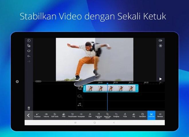 aplikasi PowerDirector bisa stabilkan gambar