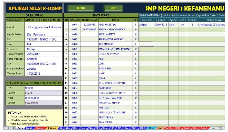 Link Download Aplikasi Raport K13 Terbaru Untuk Smp Tekno Banget