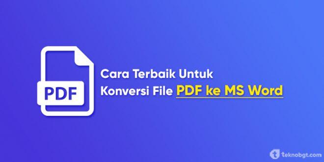 cara terbaik konversi pdf ke word