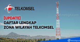 daftar lengkap zona wilayah telkomsel