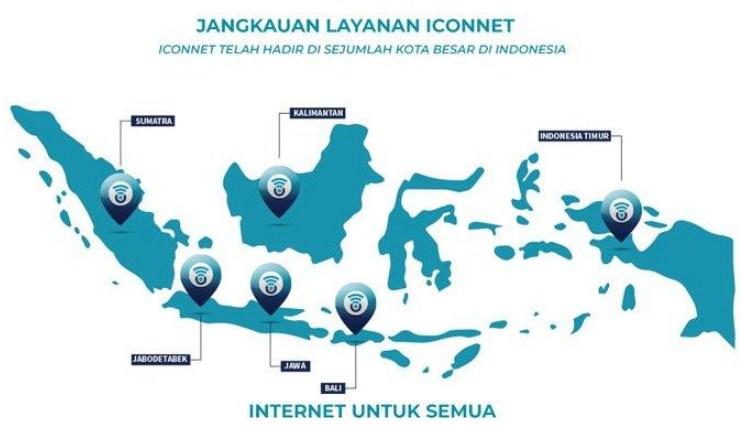 daftar wilayah layanan internet ICONNET PLN