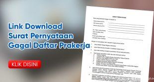 link download surat pernyataan gagal daftar prakerja