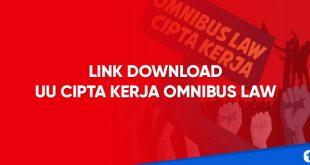 link download uu cipta kerja omnibus law