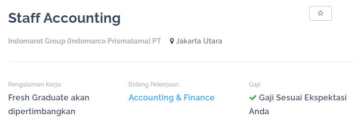 loker staff accounting indomaret