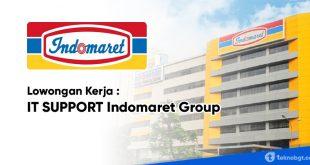 lowongan kerja IT Support Indomaret Group Jakarta