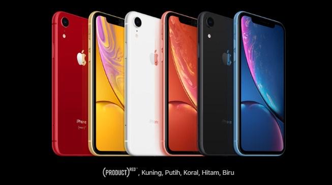 pilihan warna iphone XR
