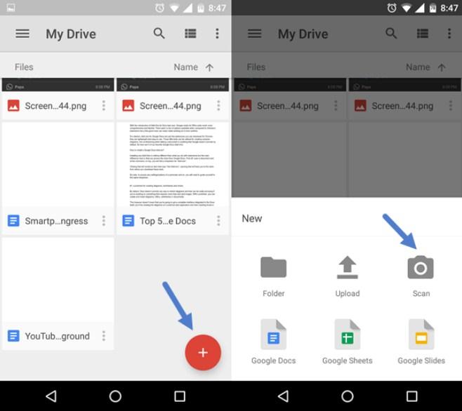 scan dokumen dari hp dengan google drive