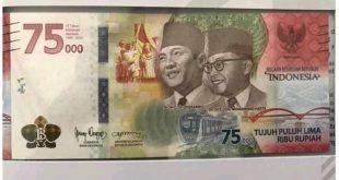 uang pecahan 75ribu hut RI