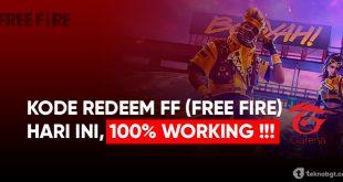 kode redeem ff free fire hari ini terbaru
