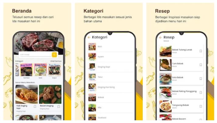 buku resep masakan sehari hari offline