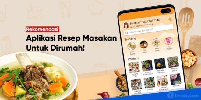 rekomendasi aplikasi resep masakan terbaik