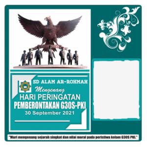twibbon G30S PKI SD Alam Ar-Rohmah by saeful jaka