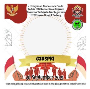 twibbon hari peringatan G30S PKI UIN Imam Bonjol Padang
