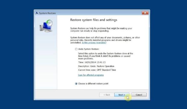 Restore Point di Windows 7